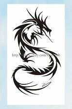 US Seller- female lower back tattoos fire dragon temporary tattoo