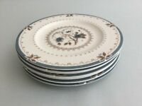 "Royal Doulton OLD COLONY TC1005 6 5/8"" Side / Bread & Butter / Tea Plates X 7"