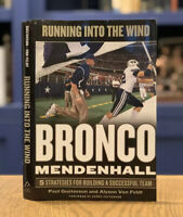 SIGNED! Running into the Wind : Bronco Mendenhall Book LDS Mormon BYU/Virginia