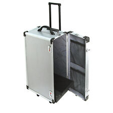 Large Aluminum Jewelry Sales Travel Carrying Case with Pull out handle & wheels
