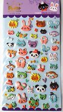 Cute kawaii Korean import *Animals* sheet of squishy cute animal stickers