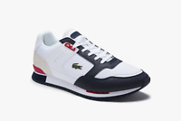 Lacoste Men's Partner Piste Synthetic and Textile Trainers in White and Navy