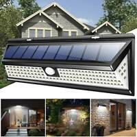 Outdoor Garden Floodlights Lamp 118 LED Solar Power PIR Motion Sensor Wall Light