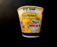 VINTAGE 1987 DAIRY QUEEN BLIZZARD WAX CUP (DENNIS THE MENACE)
