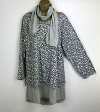Fair Trade KN7005 Size Large 60/%OFF Nomads Tunic Jumper in Gold with Grey Trim