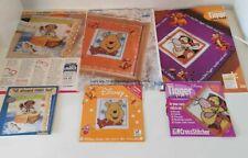 set of 3 cross stitch kits - winnie the pooh, tigger and sailor bear