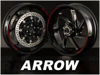 Pegatinas llantas moto ARROW Vinilos adhesivos 100% compatibles con Aprilia
