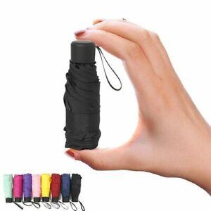 Super Mini Pocket Compact Umbrella Sun Anti UV 5 Folding Windproof Rain Travel
