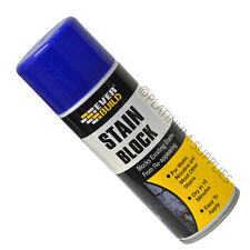 12X EVERBUILD STAIN BLOCK 400ML SPRAY PAINT PREVENTS WATER MARKS MOULD RUST