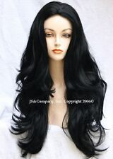 Long Lusciously Layered Black Wavy Skin Top WIG WAAH 1