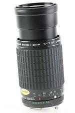 Takumar bajonet 80-200mm 80-200 mm f/4.5 Pentax PK K MERCE NUOVA NEW DA COLLEZIONE
