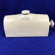 Antique pottery footwarmer Doulton & Lambert Limited 3 pt Bourne Denby England
