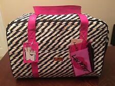 Luv Betsey Johnson Cruisin Weekender Duffle Travel Bag Heart Stripe Luggage Tote