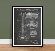 "GIBSON LES PAUL GUITAR POSTER Blackboard Patent Poster Print 18X24"" (unframed)"