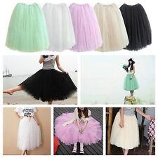 White 5 Layers Long Lady Girl Ballet Tutu Skirts Underskirts Petticoat