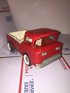 Structo Red Corvair side ramp Truck Vintage 1960's Pressed Steel