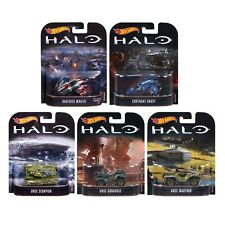 Videogame Halo Set 5 Models MATTEL Hot Wheels Die Cast Scale Model Vehicles