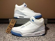 AIR JORDAN 3 RETRO Harbor Blue White Nike III 1 4 5 6 7 8 11 Cement WMNS 2007 10