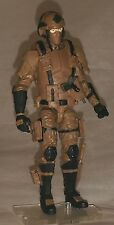 "Marauder Task Force Brown ""Terra-Ops"" 1:18 scale GI Joe ""type"" Figure with Gear"