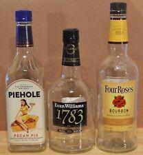 Piehole Evan Williams 1783 Four Roses Bourbon Whiskey 750 Ml Empty Glass Bottles