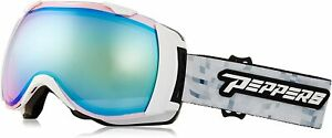 Pepper's Unisex Sirque White/Rose with Blue Mirror 143mm Oval Snow Goggles
