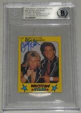 Bobby Fulton Signed 1986 Monty Gum Card Bas Coa Fantastics Wwe Wrestling Stars