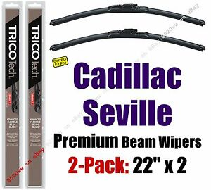 Wipers 2 Pack Premium Wiper Beam Blades fit 1992-2004 Cadillac Seville - 19220x2