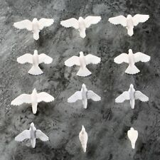 20Pcs Plastic Birds Small Figure Toy Pigeon Dove Bird Of Peace Scenery Layout