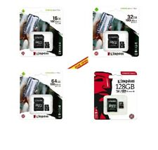Tarjeta Memoria Micro SD SDHC/XC Kingston ORIGINAL 16GB 32GB 64GB 128GB Clase 10