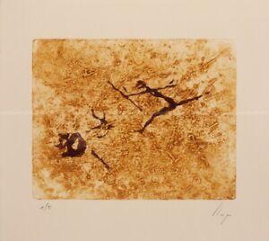 Llop - pinturas rupestres, Perelló - grabado intaglio original 38x33
