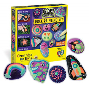 Creativity for Kids Glow In The Dark Rock Painting Kit - Paint 10 Rocks with -