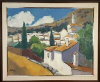 RURAL LANDSCAPE. OIL ON CANVAS. SIGNED NOVA. TWENTIETH CENTURY.