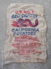 10 Qty All Different Burlap Potato Sack/Bag Rat Rod, Sack Race, Feed, Farm Sign