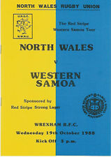 SAMOA 1988 RUGBY TOUR PROGRAMME v NORTH WALES 19th October, Wrexham