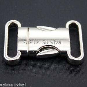 """Quick Release 3/4"""" Metal Fashion Buckle Paracord Survival Bracelet"""