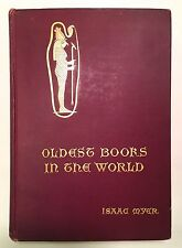 Oldest Books in the World Ancient Egyptians - Isaac Myer 1900 Antique Occult