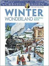 WINTER WONDERLAND ~ ADULT COLORING BOOK ~ REMOVABLE PAGES 4 FRAMING