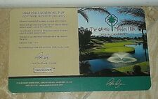 The Westin Mission Hills (By Pete Dye) Golf Score Card In Rancho Mirage, CA-New