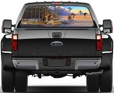 Cabins In The Woods, Ducks Lake Painting Rear Window Graphic Decal Truck SUV