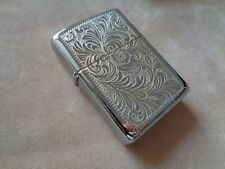 ZIPPO LIGHTER SILVER PLATE GOLD INLAY FLORAL YEAR 1996  NEW 352SPF 285