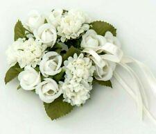 Hochwertiger Kerzenring, Schweden, weiße Rosen, Hochzeit, Taufe, Kommunion