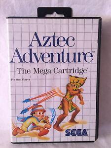 SEGA MEGA DRIVE CASSETTE AZTEC ADVENTURE IN PERFECT CONDITIONS