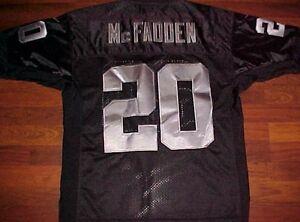 Nike NFL AFC West Los Angeles Raiders Darren McFadden 20 Black Jersey 48 New