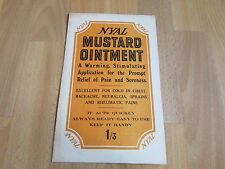 NYAL Mustard Ointment Warming Pain Relief Original c 1920's Advertising Showcard