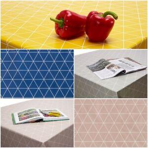 Geometric PVC Vinyl Design Tablecloth Wipe Clean Oilcloth Round Rectangle Square