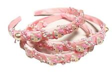Girls Pale Light Pink Bow Hello Kitty 15mm Alice Band Hairband Hair Accessory
