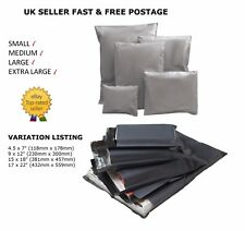 More details for strong grey mailer bags strong poly post postage mail self seal all size *cheap*
