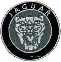 Jaguar face Sport Embroidered Logo Crest Badge Iron /Sew On Patch  7.5 cm