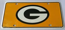 Green Bay Packers 2nd Design NFL Yellow Printed Metal License Plate Tag Car Auto