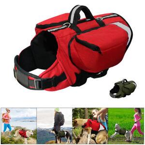 Pet Dog Harness Outdoor Padded Saddle Bag Backpack for Traveling Hiking Dog Vest